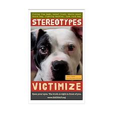Stereotypes Victimize Rectangle Sticker 10 pk)