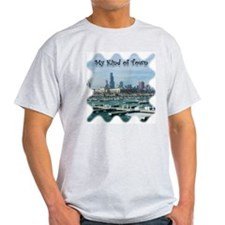 Chicago Skyline Ash Grey T-Shirt