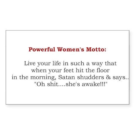 Powerful Women's Motto Rectangle Sticker