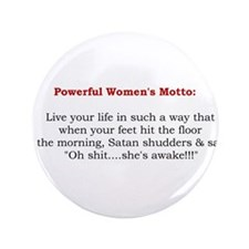 "Powerful Women's Motto 3.5"" Button (100 pack)"