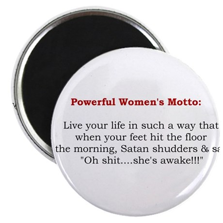 Powerful Women's Motto Magnet