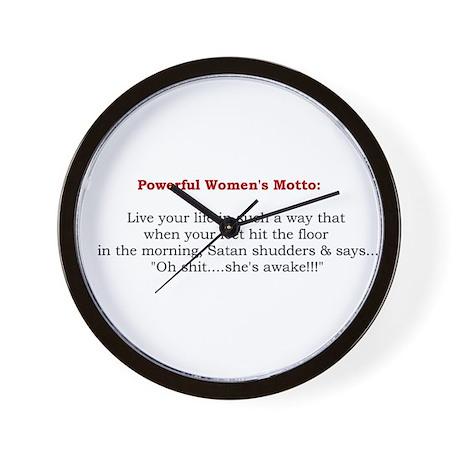 Powerful Women's Motto Wall Clock
