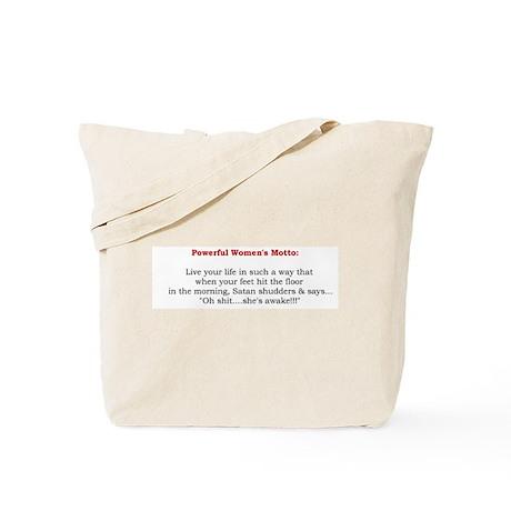 Powerful Women's Motto Tote Bag