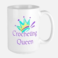 Crocheting Queen Large Mug