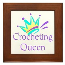 Crocheting Queen Framed Tile