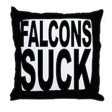 Falcons Suck Throw Pillow