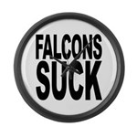Falcons Suck Large Wall Clock