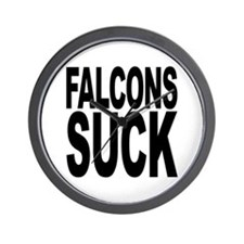 Falcons Suck Wall Clock