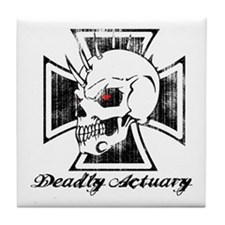 Deadly Skull Actuary Tile Coaster