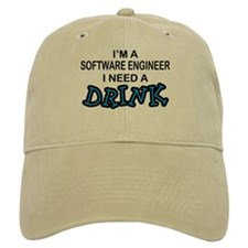 Software Engineer Need a Drink Baseball Cap