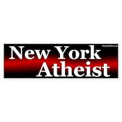 New York Atheist bumper sticker