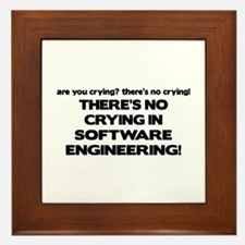 There's No Crying in Software Engineering Framed T