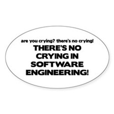 There's No Crying in Software Engineering Decal