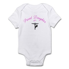 Proud Daughter of a Lineman Infant Bodysuit