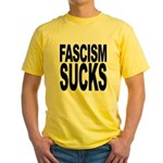 Fascism Sucks Yellow T-Shirt