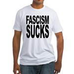 Fascism Sucks Fitted T-Shirt
