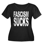 Fascism Sucks Women's Plus Size Scoop Neck Dark T-