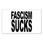 Fascism Sucks Rectangle Sticker