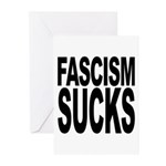 Fascism Sucks Greeting Cards (Pk of 10)