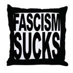 Fascism Sucks Throw Pillow