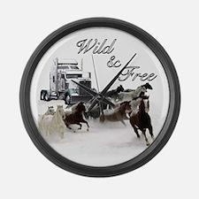 Wild & Free Large Wall Clock