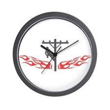 Cute Lineman Wall Clock