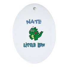 Nate - Dinosaur Brother Oval Ornament
