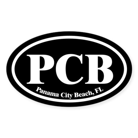 Panama City Beach PCB Euro Oval Oval Sticker
