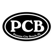 Panama City Beach PCB Euro Oval Oval Decal