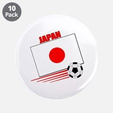"Japan Soccer Team 3.5"" Button (10 pack)"