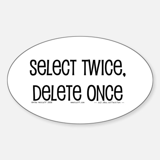 select twice Oval Decal