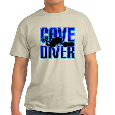 Cave Diver Text Light T-Shirt