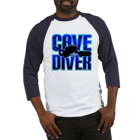 Cave Diver Text Baseball Jersey
