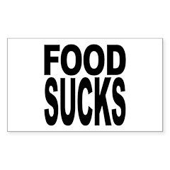 Food Sucks Rectangle Sticker 50 pk)