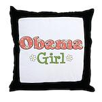 Obama Girl Obama Throw Pillow