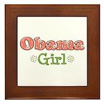 Obama Girl Obama Framed Tile