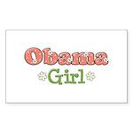 Obama Girl Obama Rectangle Sticker 50 pk)