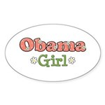 Obama Girl Obama Oval Sticker (10 pk)