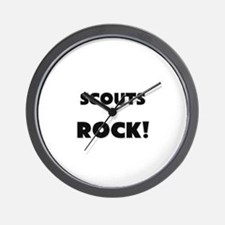 Scouts ROCK Wall Clock