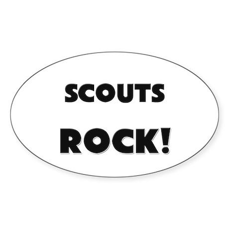 Scouts ROCK Oval Sticker