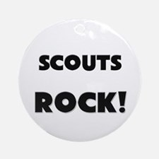 Scouts ROCK Ornament (Round)