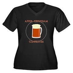 Bring Latin Beer Women's Plus Size V-Neck Dark T-S