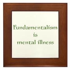 Fundamentalism Framed Tile