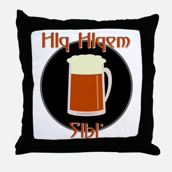 Bring Klingon Beer Throw Pillow