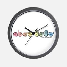 Pastel SIGN BABY Wall Clock
