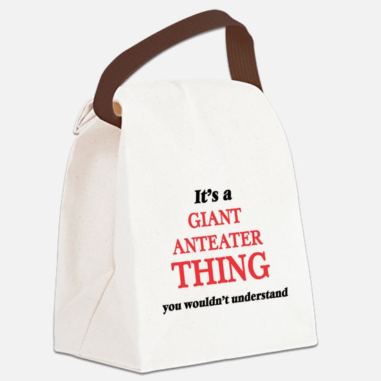 It's a Giant Anteater thing, Canvas Lunch Bag