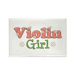 Violin Girl Violin Rectangle Magnet (100 pack)