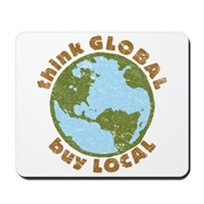 think GLOBAL Mousepad