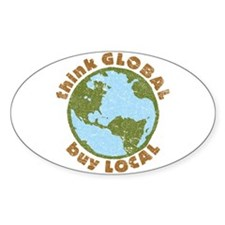 think GLOBAL Oval Decal