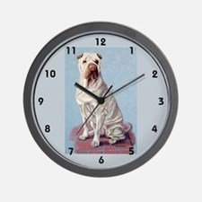 Shar-pei Wall Clock